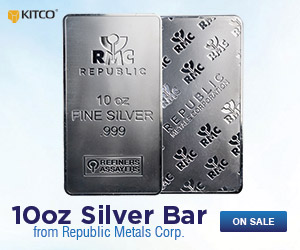 RMC 10 oz Silver Bars