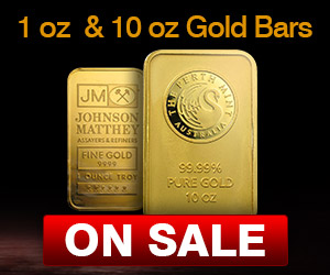 1oz & 10oz Gold Bars