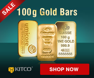 100 grams Gold Bars