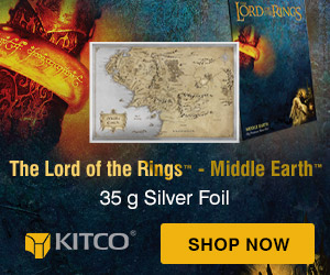 35 g Silver Lord of the Rings Middle Earth Foil
