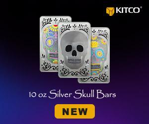 10oz Silver Skull Bars