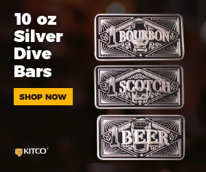 Silver Three Piece Set� Bourbon, Scotch, Beer