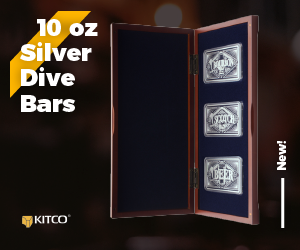 10 oz Silver Bar Set Bourbon,Scotch,Beer