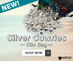 10 g Silver Money Cowries .999 – Kilo Bag