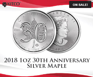 1 oz Silver Maple Leaf Coins 30th Anniversary
