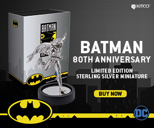 Silver Batman Miniature