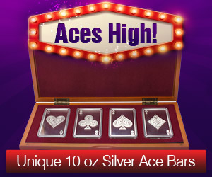 10 oz Silver Bar Set - 4 Aces
