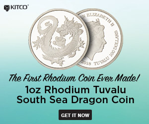 Rhodium Tuvalu South Sea Dragon Coin