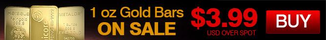 1 oz Gold Bar Promo