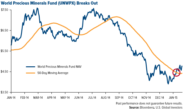 World Precious Minerals Fund (UNWPX) Breaks Out