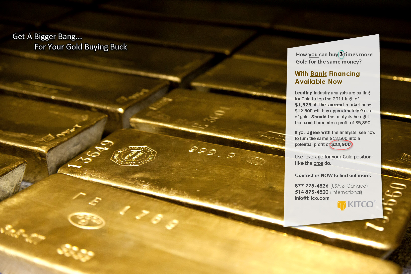 Bank Direct Financing for Your Gold Purchase