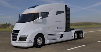 concept of the New Nikola Motor's all-electric heavy duty truck