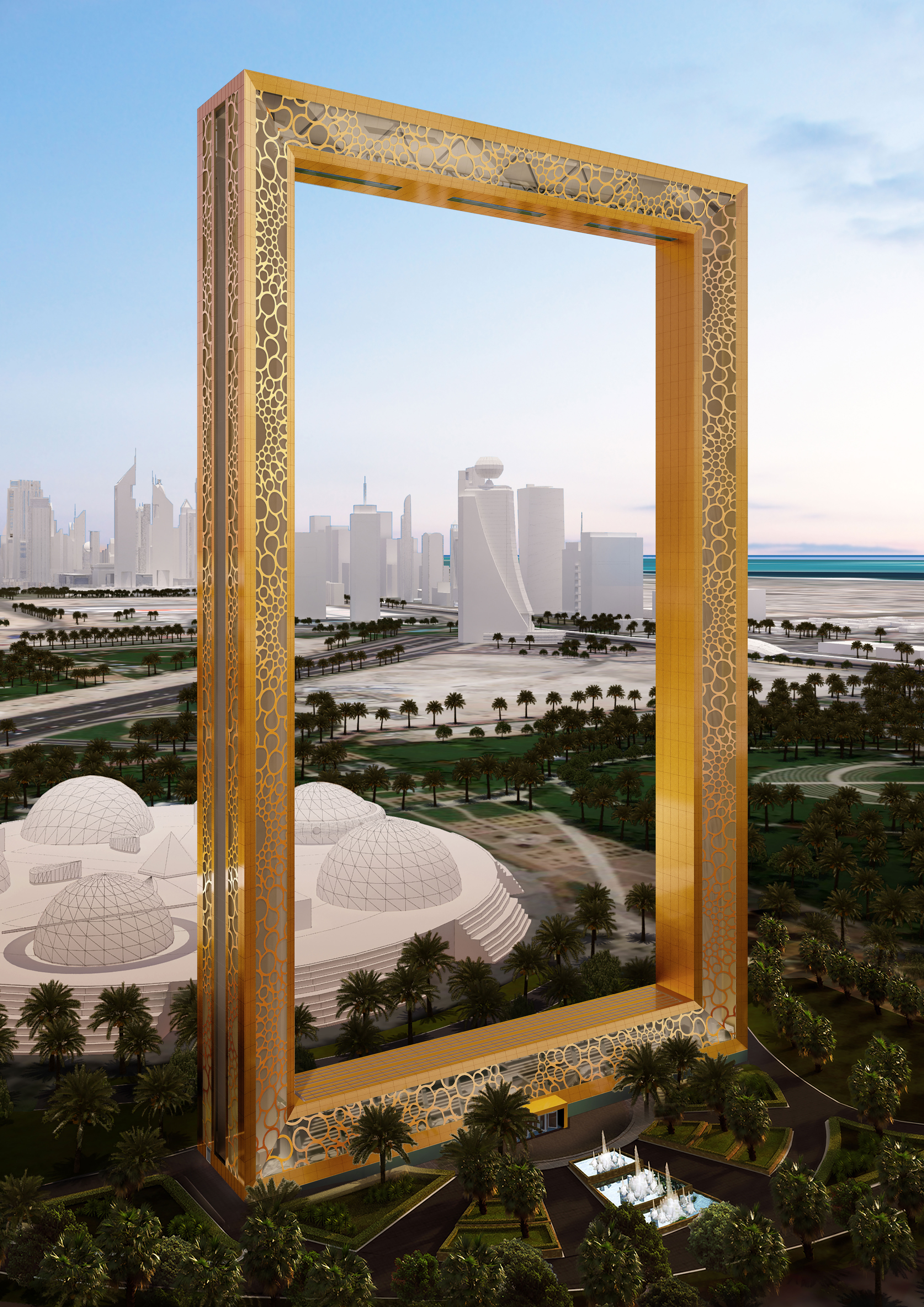 Dubai S Stunning 50 Story Gold Plated Frame To Be