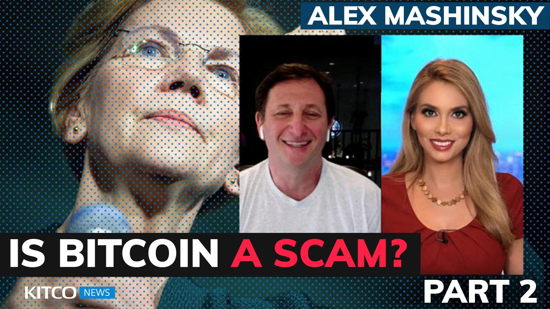 Senator Warren calls Bitcoin a 'scam', threatens more regulation; Alex Mashinsky says she's wrong