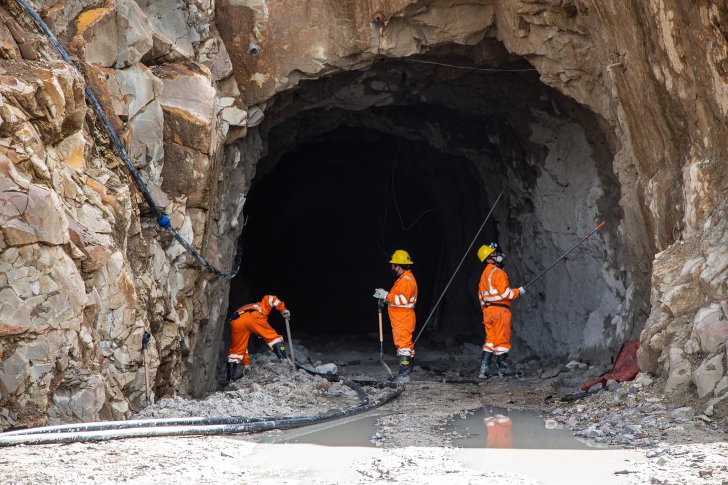 A new mine portal at Tangana