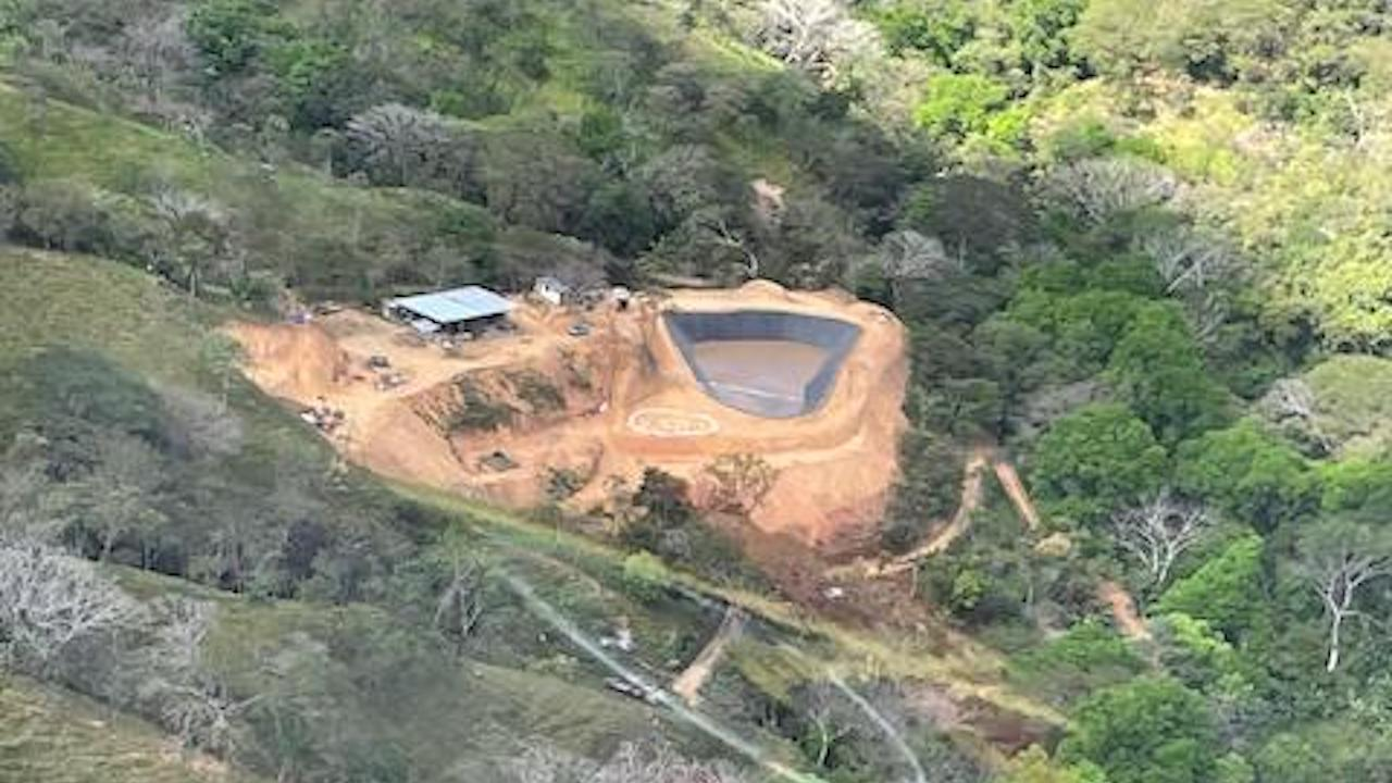 Aerial view of the environmental reclamation plant
